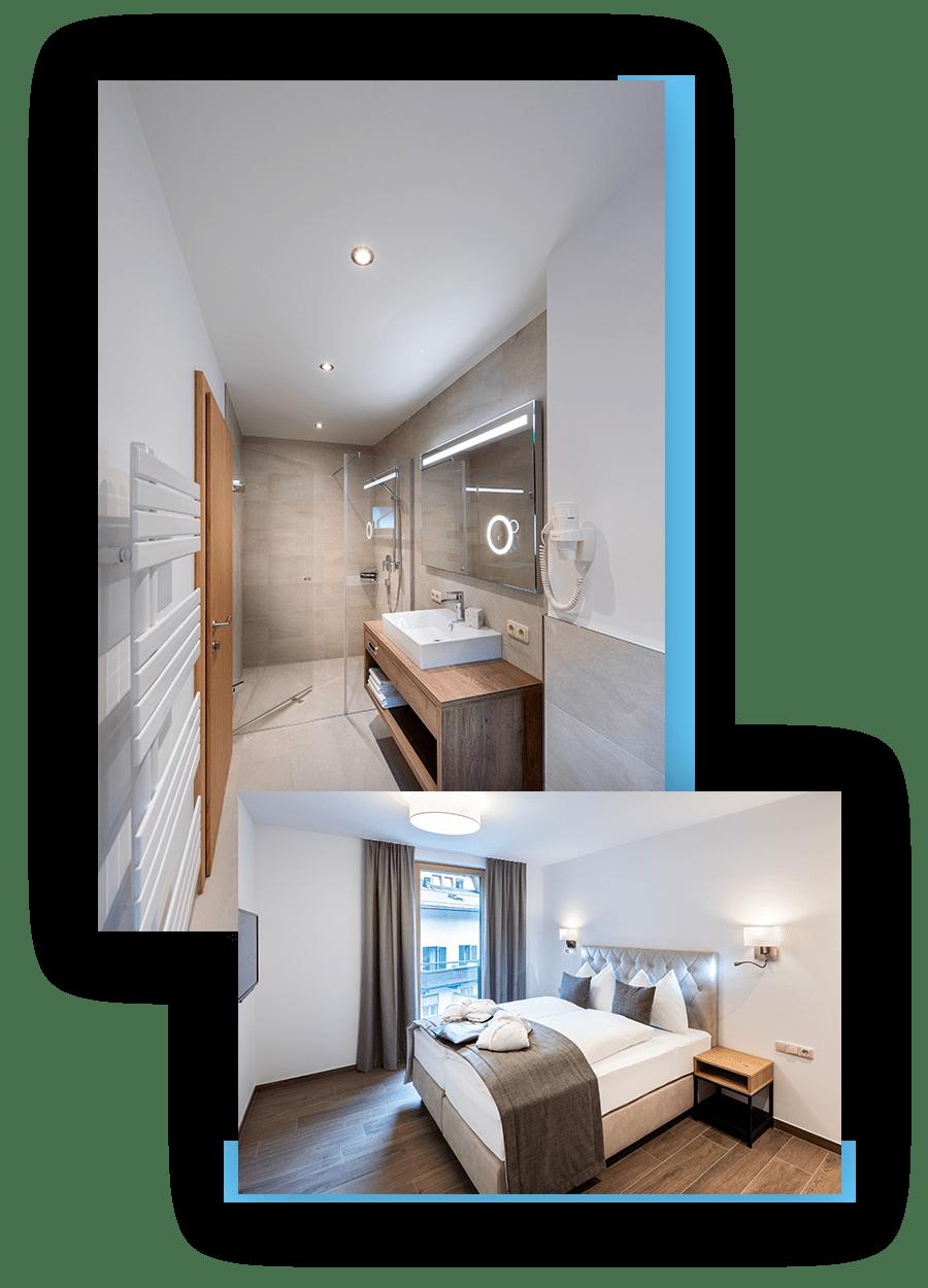 MANNI Home Badezimmer und Doppelbett