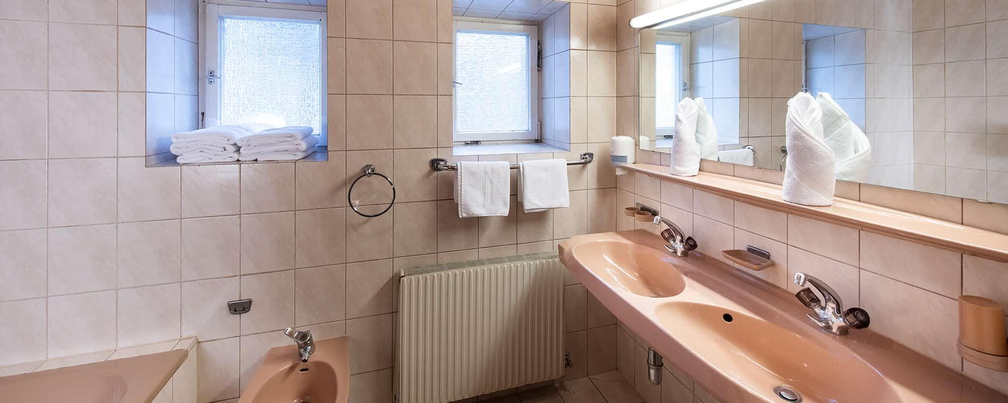 MANNI low budget Badezimmer mit Ausblick