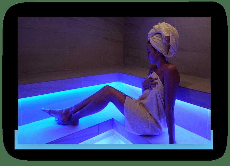MANNI Dampfbad mit Beleuchtung