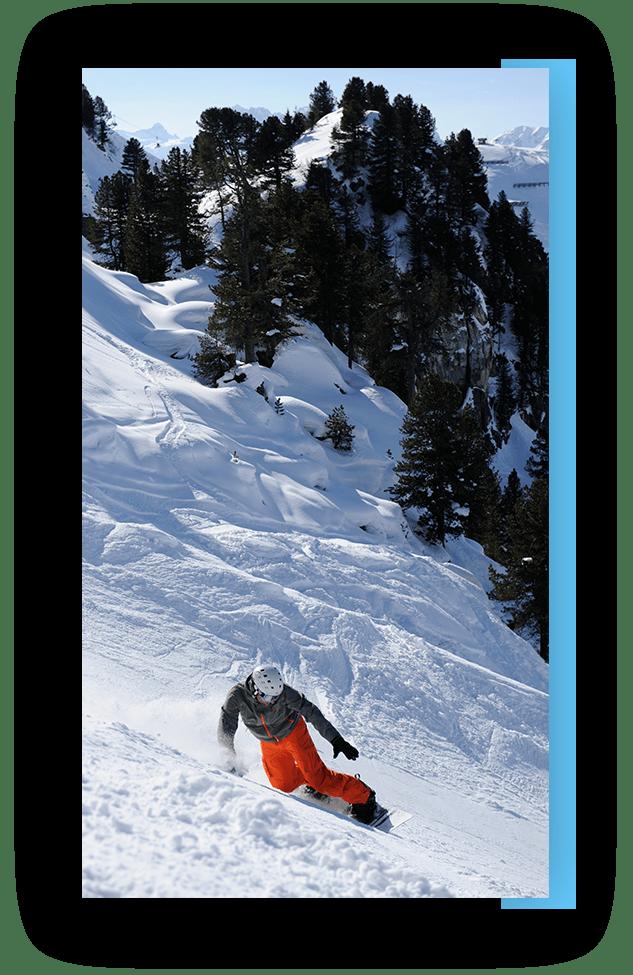 MANNI Snowboarden im Sonnenschein